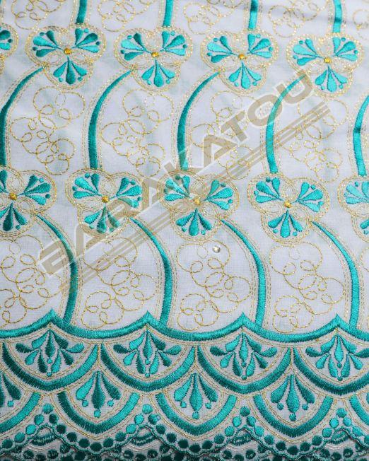 107_Brod-Aut_Blanc - Fleur Bleue 170€