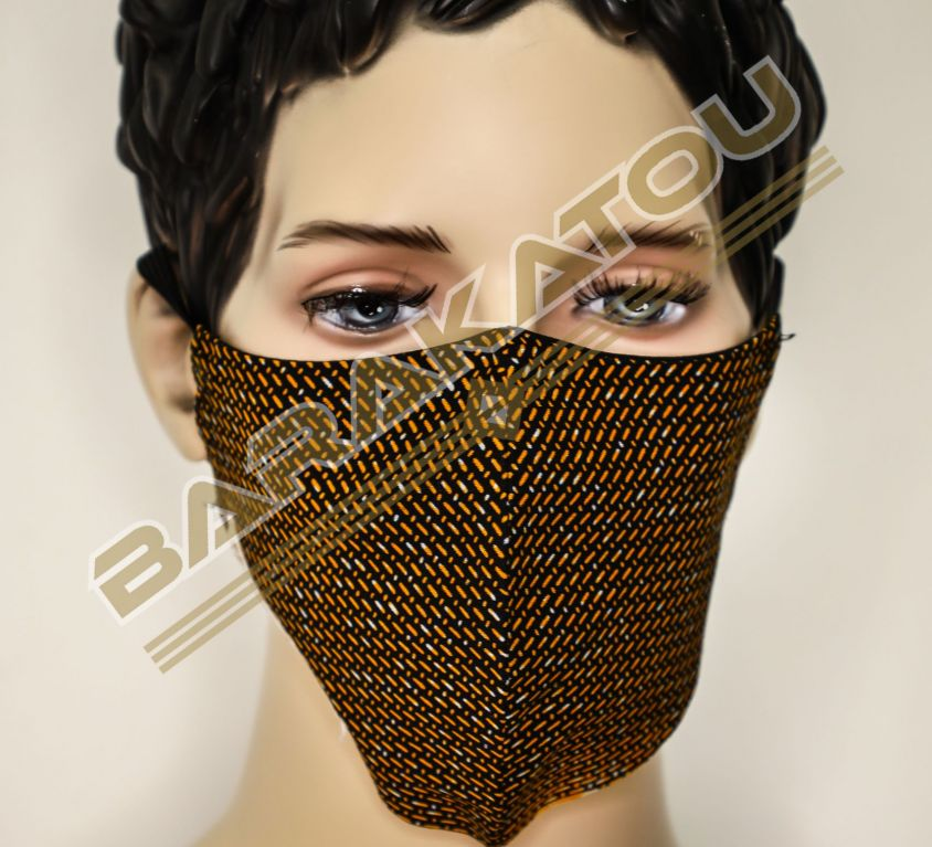 Masque Mitex Holland Noir Motif J-M