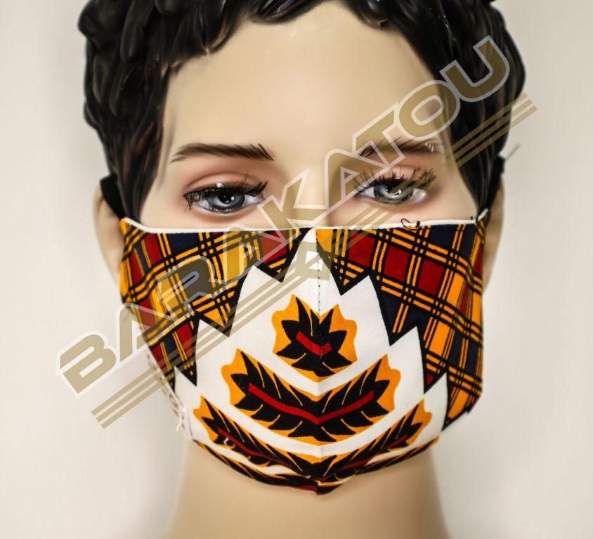 Masque Wax Mitex Holland Blanc, Motif ZigZag
